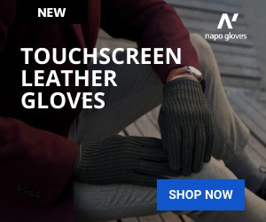 Napo Touchscreen Leather Driving Gloves